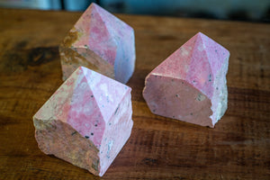 Rhodonite Raw Standing Point