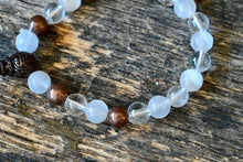 Selenite + Clear Quartz + Copper Bracelet (8mm)