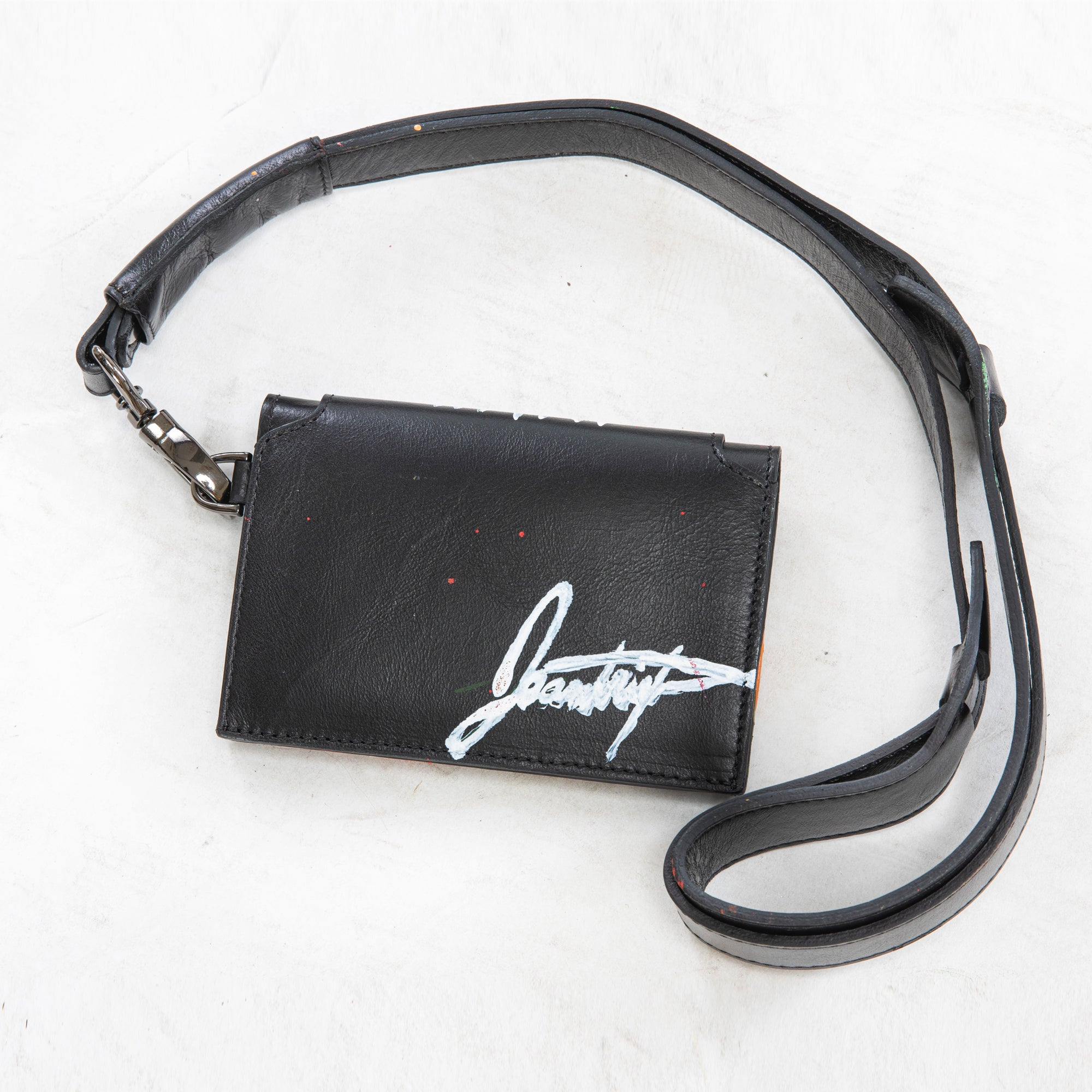"Jeantrix x Saija B&W ""tribal"" neck wallet"