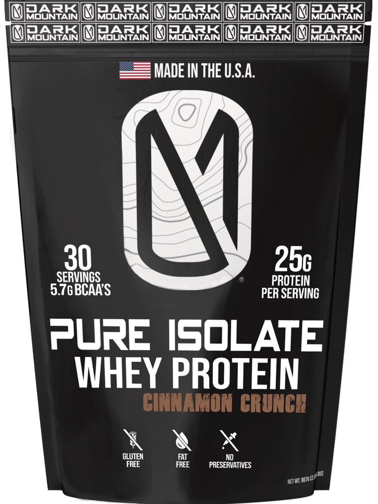 100% Pure Isolate Whey Protein Cinnamon Crunch - Dark Mountain