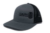 Snapback | Gun Metal Grey | Black Side Hit Logo - Dark Mountain