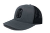 Snapback | Gun Metal Grey | Black Center Logo - Dark Mountain