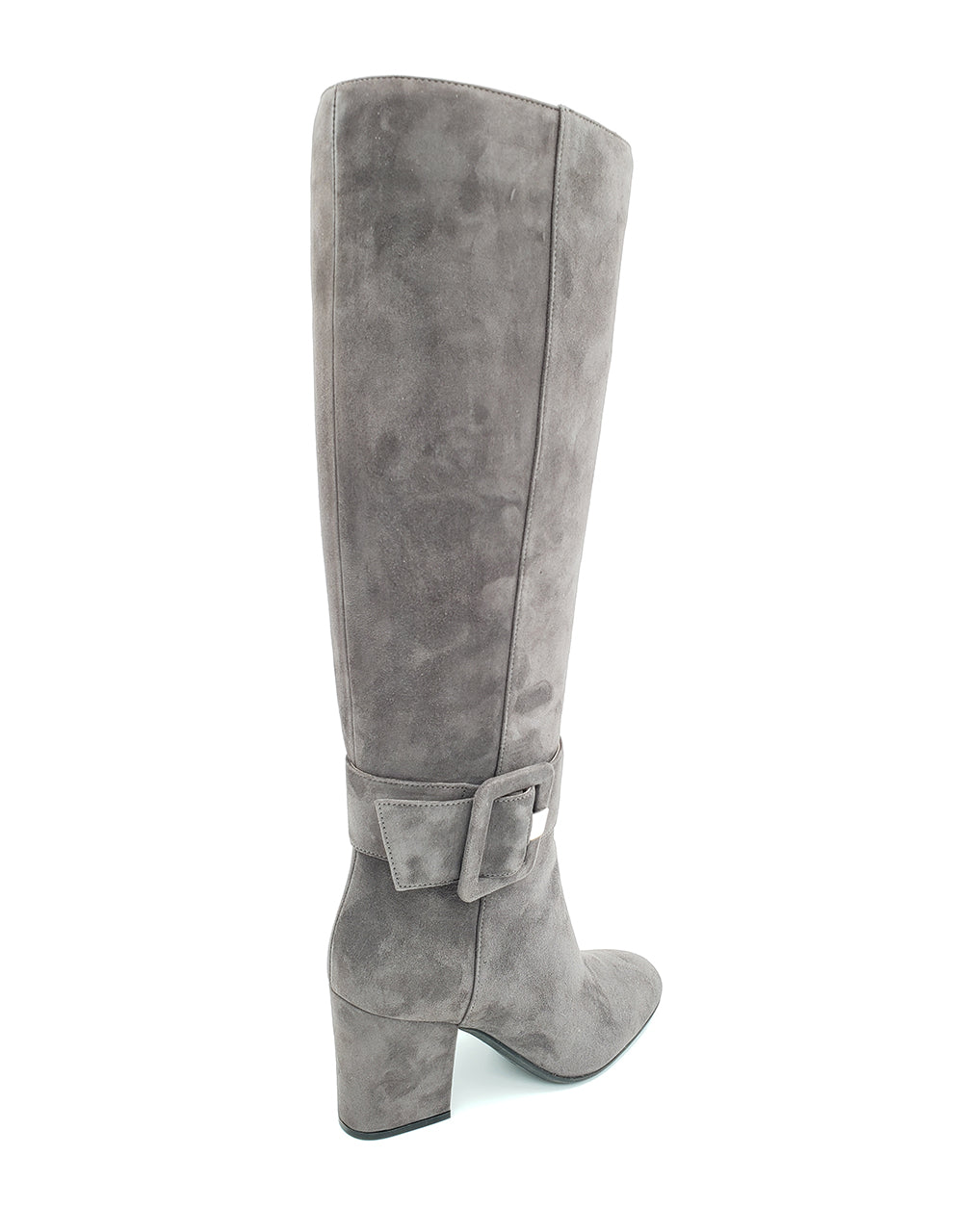 Mia Grey Suede Knee High Boots