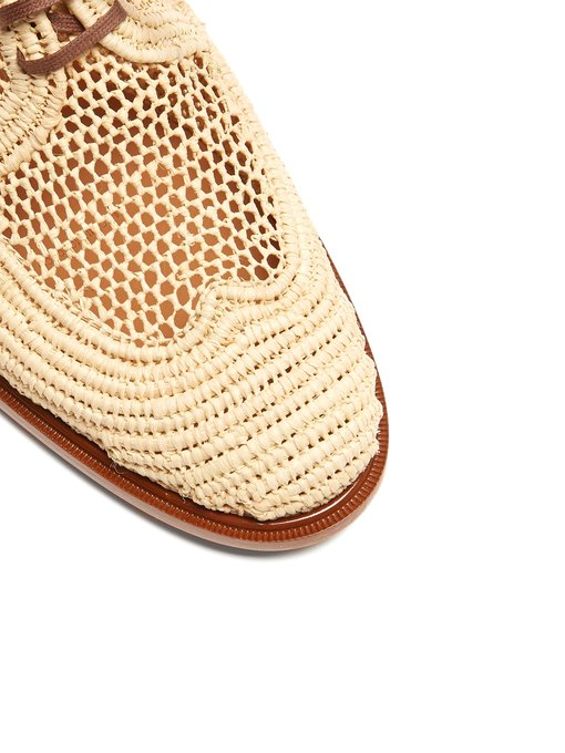 ROBERT CLERGERIE Shoes - Jaly Raffia Lace-up Mule