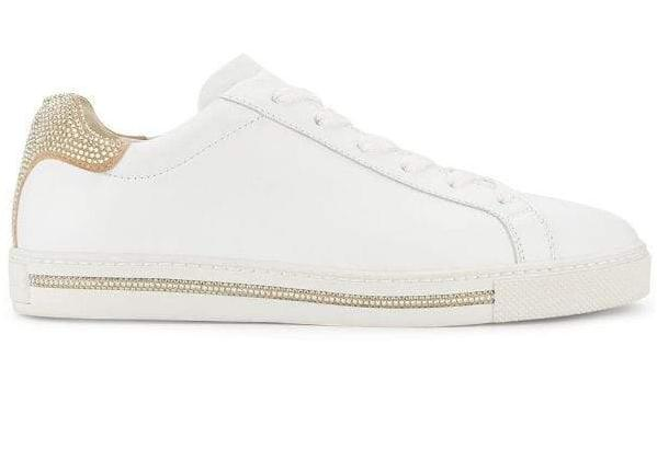 Xtra sneakers white with gold contrast strass
