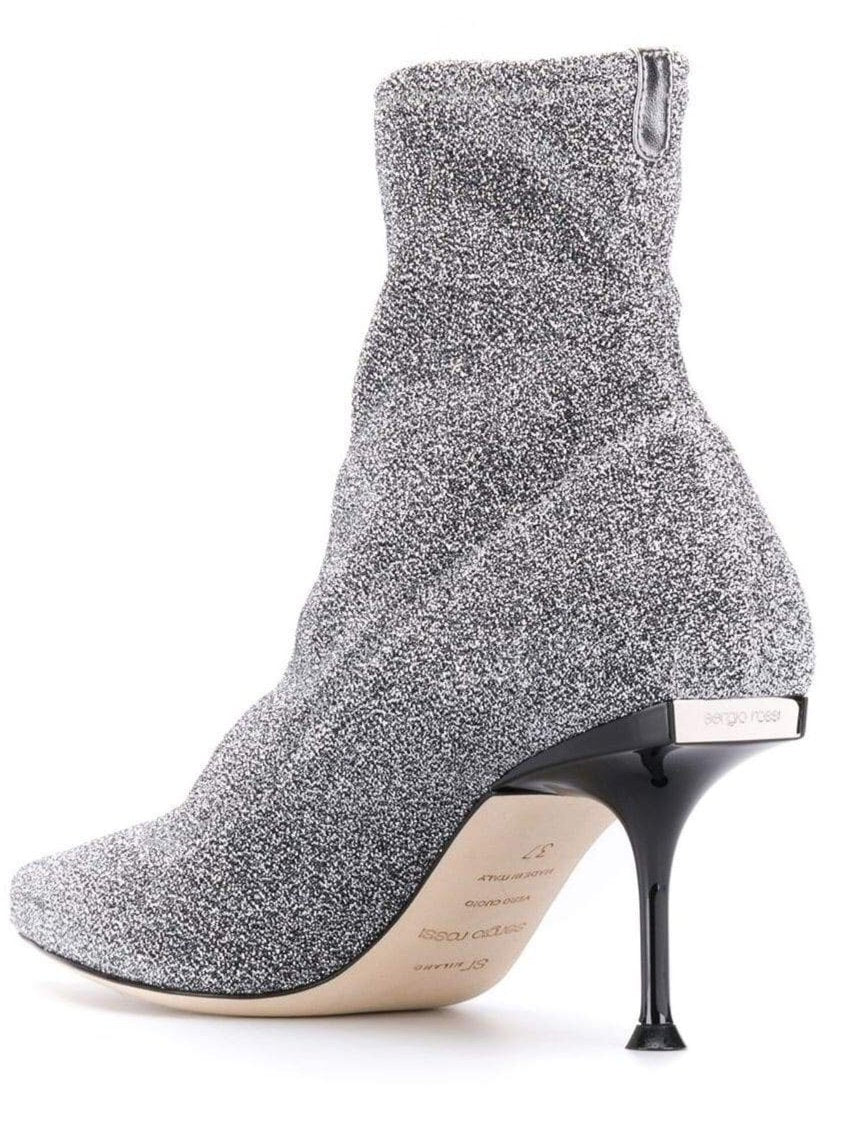 Lurex Stretch Silver Boots