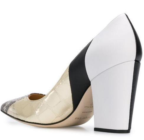 Sergio colour block pumps