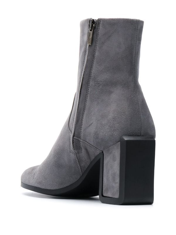 Carly Grey Suede Boots