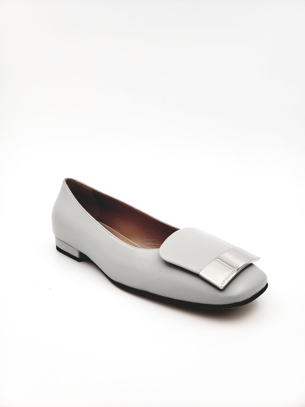 Sr1 Ballerinas Pale Grey Leather