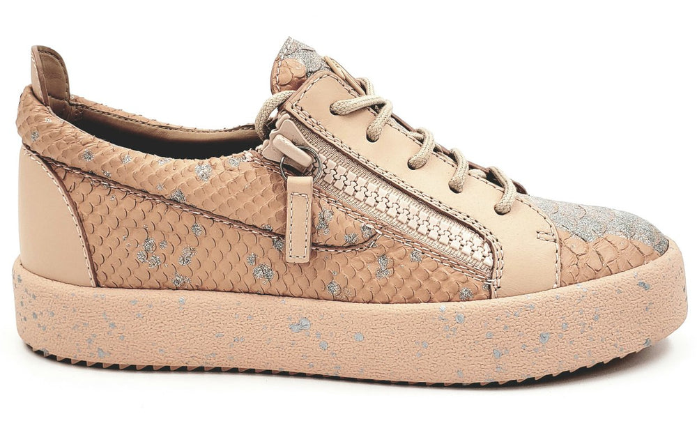 Gail Nude Low Top Leather Sneakers
