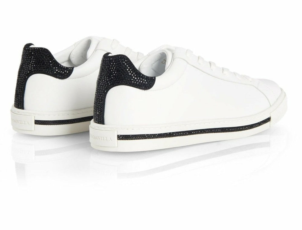 Xtra Sneakers With  Black  Contrast Strass