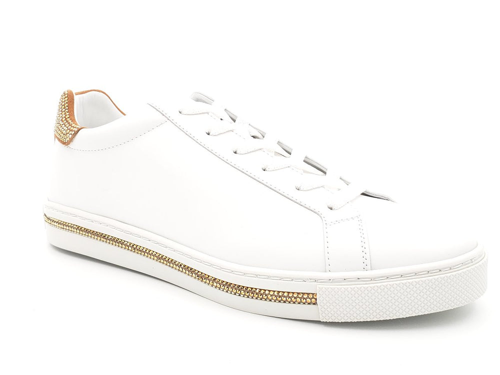 Xtra Sunshine Dark Gold Strass Sneakers