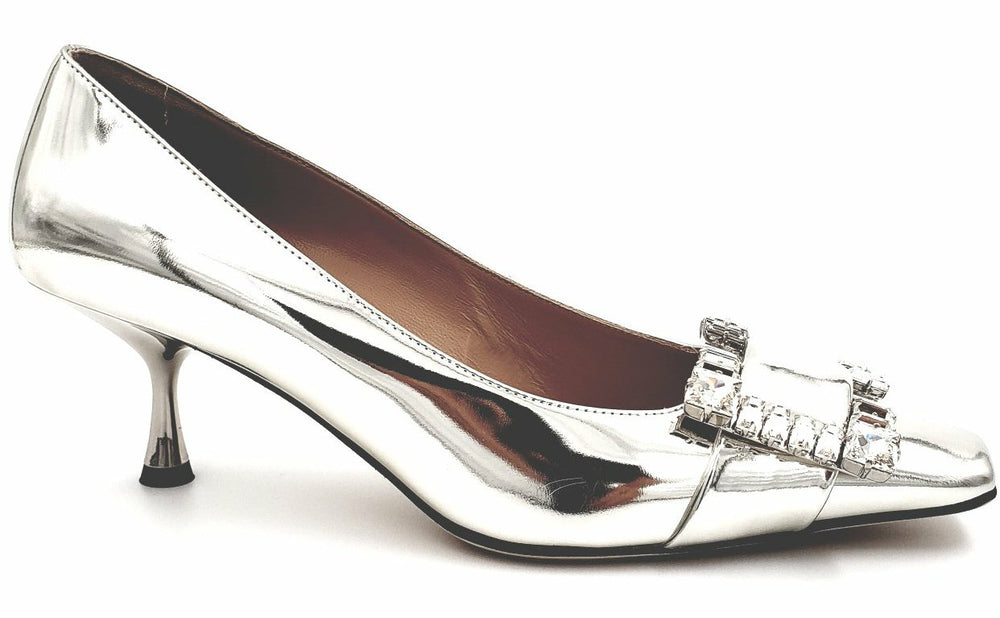 SR Twenty Silver Mirror Pumps