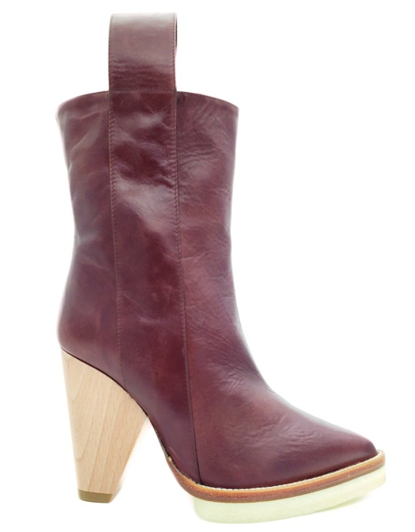 Paloma Barcelo Roberta Brown Ankle Leather Boot