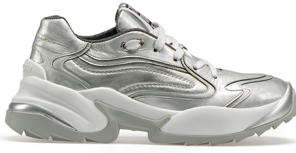 Sergio Extreme silver sneakers