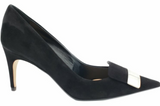 SR1 Suede Black Pump - SERGIO ROSSI - Liberty Shoes Australia