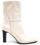 Kubrick 90 White High Heeled Ankle Boots