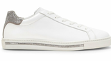Xtra Sneakers White with Crome Contrast Strass