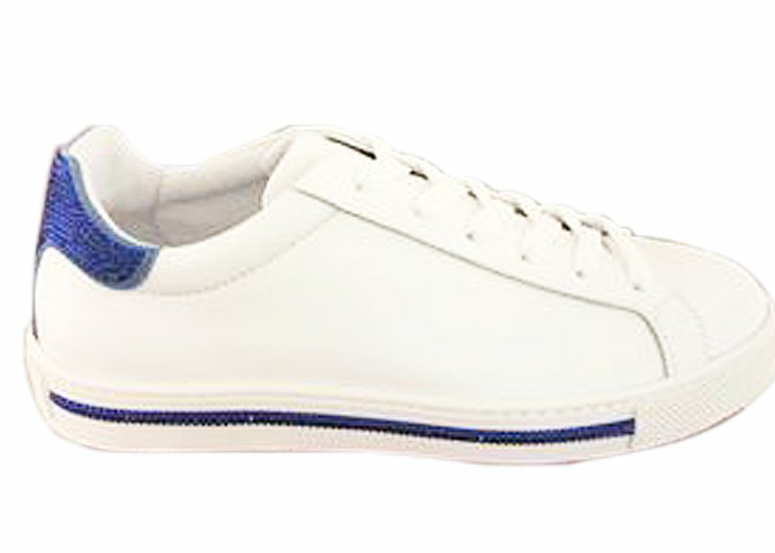 Xtra Sneaker Blue Contrasting Detail - Rene Caovilla - Liberty Shoes Australia