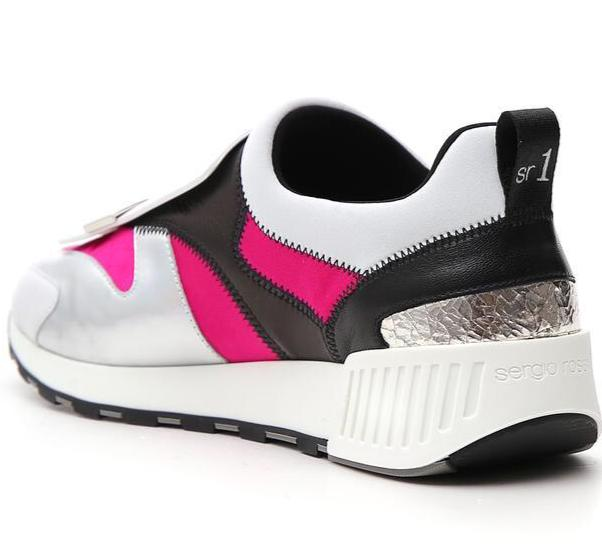 Sr1 Running patch White and Pink Sneaker - SERGIO ROSSI - Liberty Shoes Australia