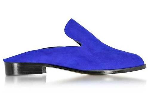 Robert Clergerie Shoes - Alice Electric Blue Suede Mules