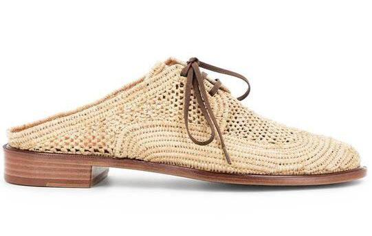 Hand-woven Natural Raffia Lace-up Mule from Robert Clergerie. Available now at Liberty Shoes Australia, Double Bay, Sydney. Free Shipping. Buy Now Online!
