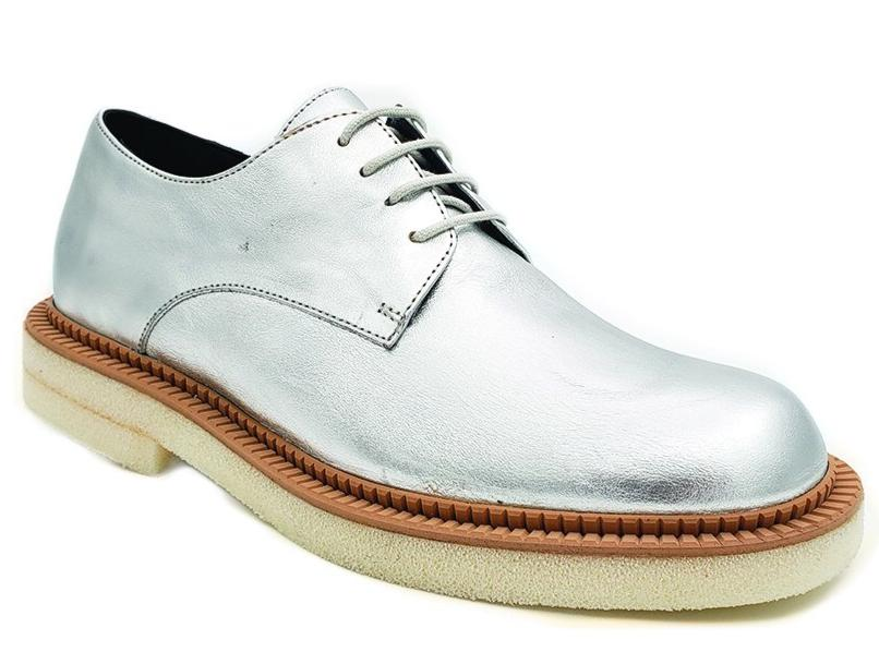 Paloma Barcelo Sliver Derby Lace-up Shoe