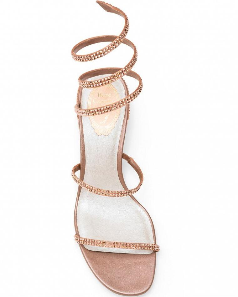 Cleo Sandal Strass Pale Pink