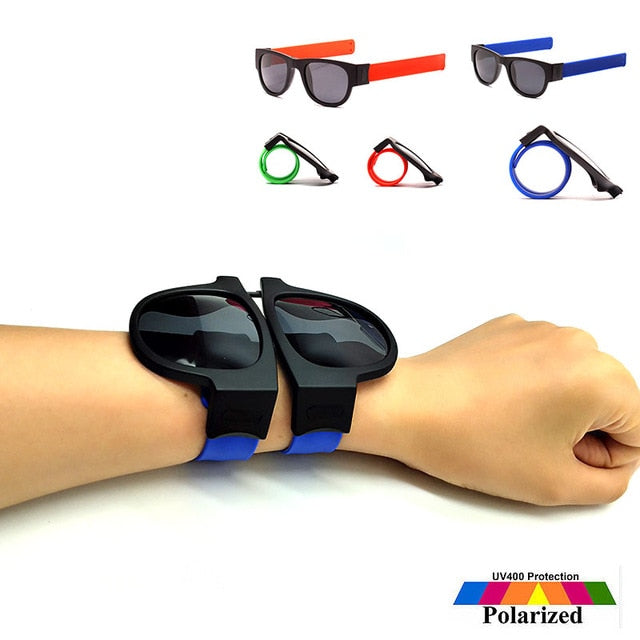Wristband Fold Shades. Colourful Fashion MirrorSlap Sunglasses