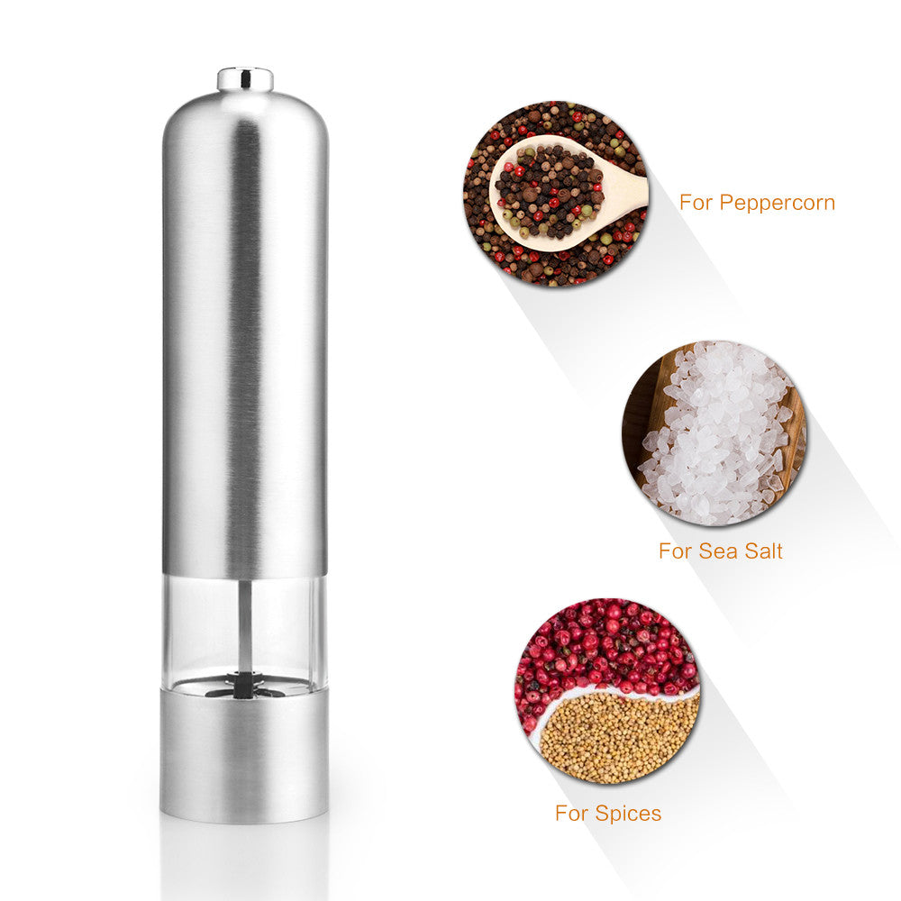 Pepper/Salt Grinder Stainless Steel Fine to Coarse Adjustable Kitchen Tools