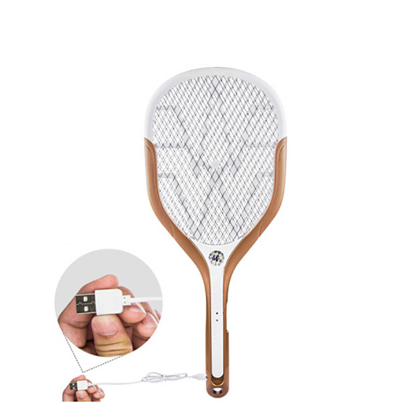 Electric Racket Mosquito&Fly Killer. LED Lights and Fast Charging