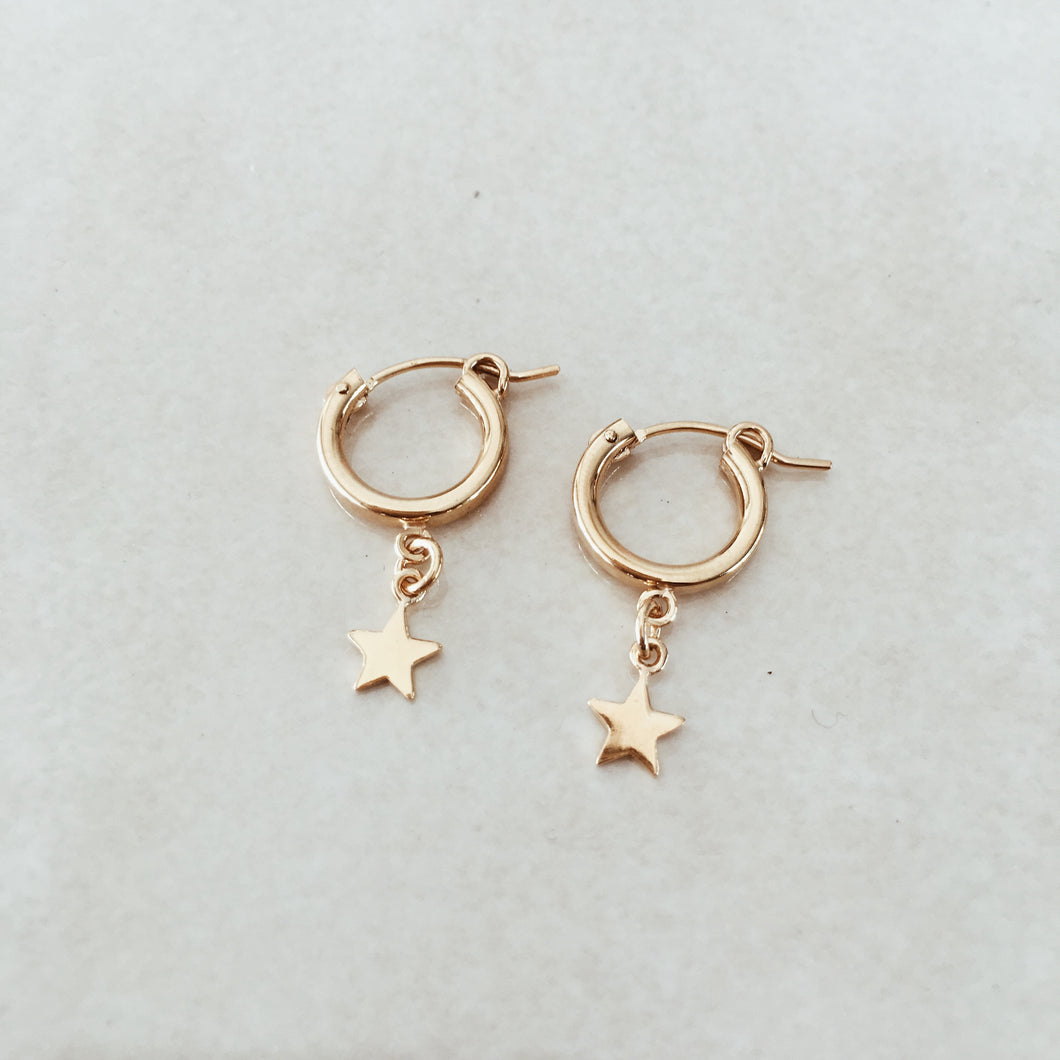The Mini Star Hoops - Gold