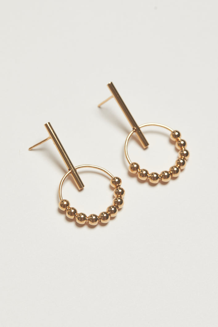 The Sable Drop Earrings - Gold