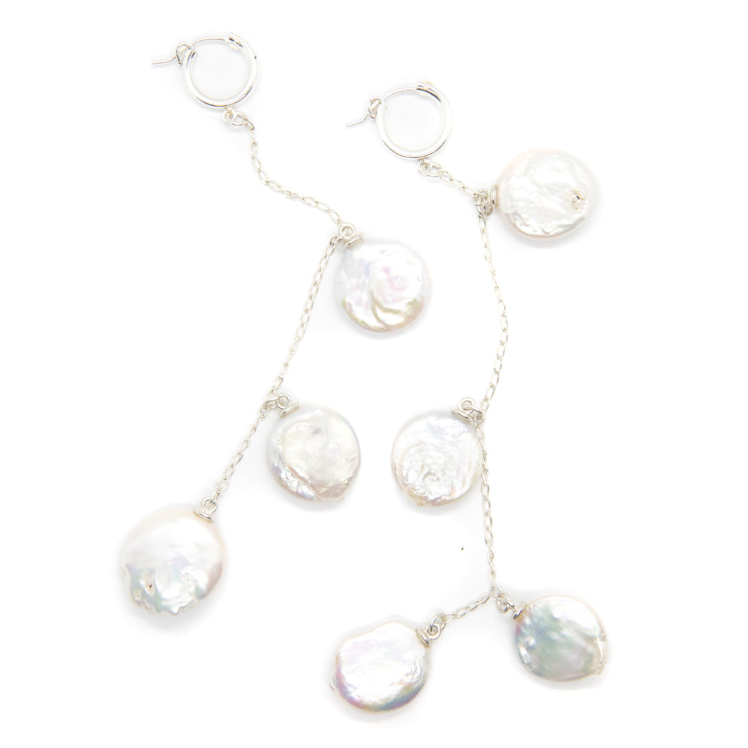The Multi Pearl Earrings Silver