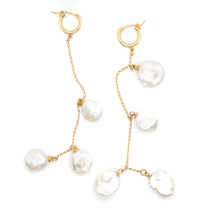 The Multi Pearl Earrings Gold