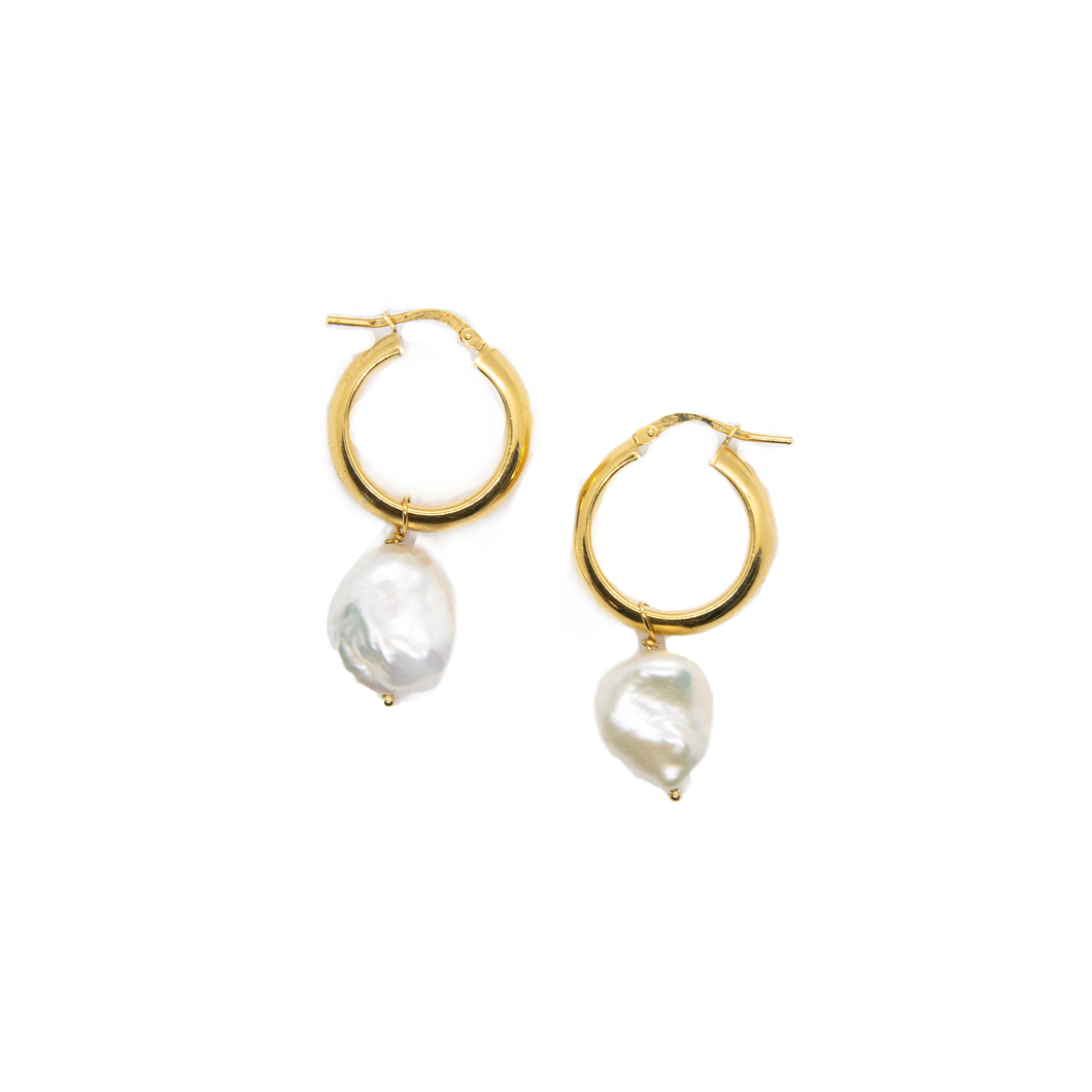 The Pearl Hoops Gold
