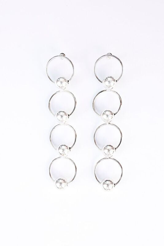 The Eliza Earrings - Silver