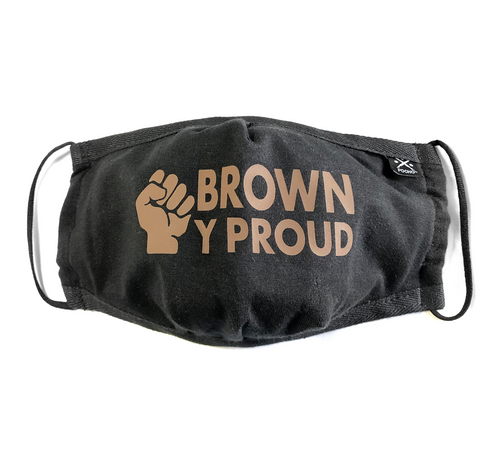 brown y proud, face mask, n95, mi orgullo