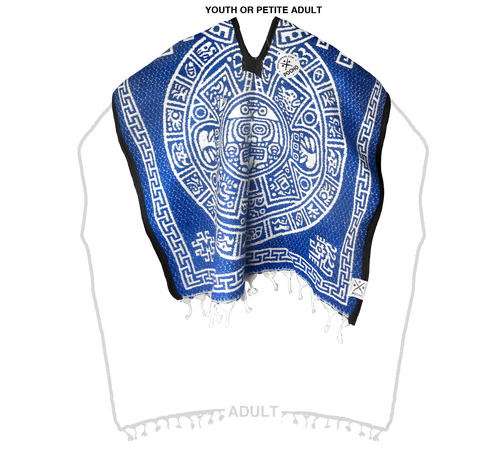Calendar Heavy Gaban Youth or Petite Adult - Sarape - Poncho
