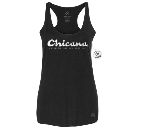 Chicana Campeon - Womens Racerback POCHO Blend Tank