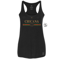Chicana DITTO - Womens Racerback POCHO Blend Tank