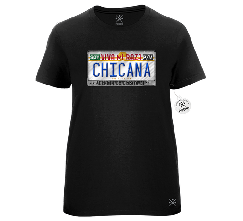 Chicana Identity Blinged Out Ladies Tee