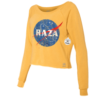 RAZA Space Cropped Crew Sweatshirt