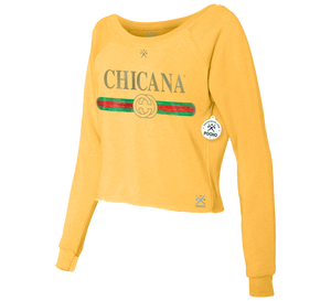 Chicana Ditto Cropped Crew Sweatshirt