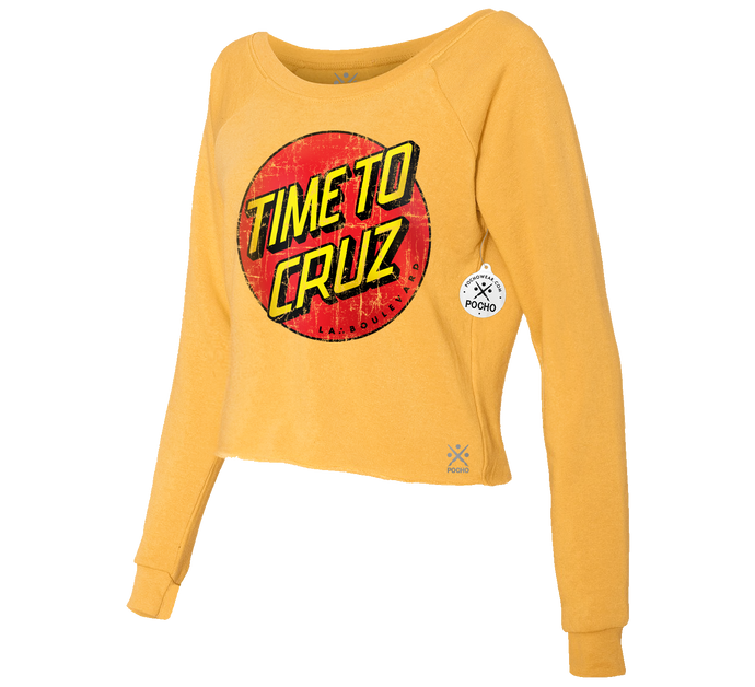Time To Cruz Cropped Crew Sweatshirt
