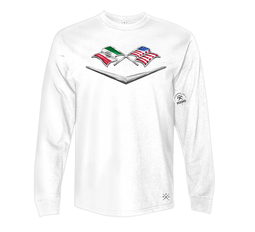 Dual Flag Badge Long Sleeve Tee