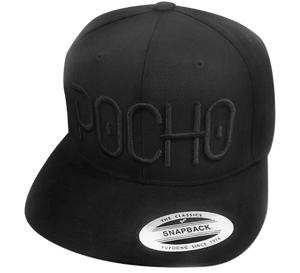 "Pocho ""El Neon"" Black on Black Hat"