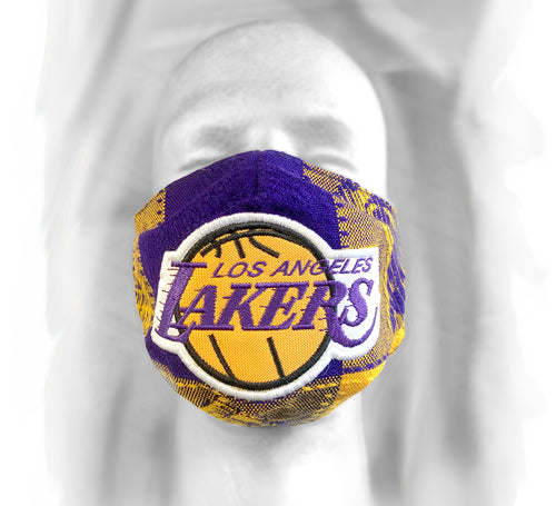 LA Purple & Gold Hand Crafted Face Mask