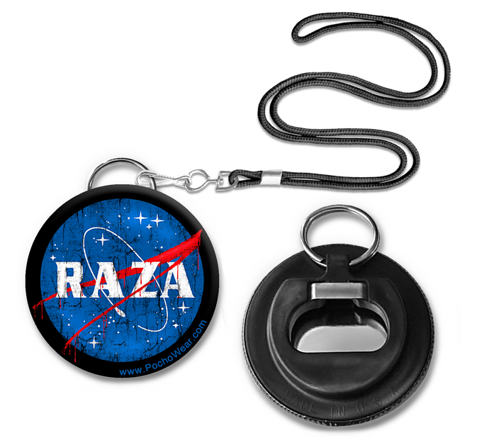 Raza Space Button Pin Bottle opener