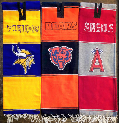 Chicago Bears - Gaban Blanket - Poncho -Sarape - Pancho